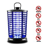 XMSTORE Bug Zapper, Electric Flying Zapper with UV Light, Portable Standing or Hanging for Indoor...