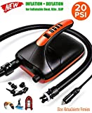 New 20PSI SUP Electric High Air Pump, 12V Smart high Pressure Pump with Intelligent Dual Stage &...