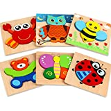 Dreampark Wooden Jigsaw Puzzles, [6 Pack] Animal Puzzles for Toddlers Kids 1 2 3 Years Old...