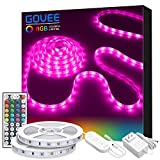 LED Strip Lights, Govee 32.8ft RGB Colored Rope Light Strip Kit with Remote and Control Box for...