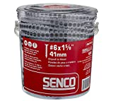 Senco 06A162P Duraspin# 6 by 1-5/8' Drywall to Wood Collated Screw (1, 000per Box)