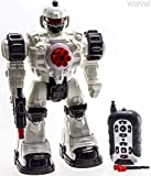 WolVol (Large Version) 10 Channel Remote Control Robot Police Toy with Flashing Lights and Sounds,...