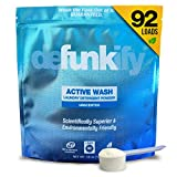 Defunkify Active Wear Laundry Detergent Powder, All Natural, Plant-Based, Enzyme Cleaner, Odor and...