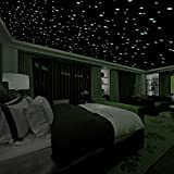 Realistic 3D Domed Glow in The Dark Stars,606 Dots for Starry Sky, Perfect for Kids Bedding Room...