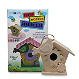 SadoCrafts Paint Your Own Birdhouse - Fun, Interactive, Educational, DIY Wood Arts and Crafts Kit...