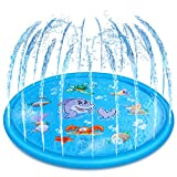Jozo Outdoor Sprinkler Toys for Kids and Toddlers 68'', Outside Splash Pad Water Toys for 2 3 4 5 6...