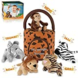HAKOL Jungle Friends Talking Plushie Set - for 1 Year Old & up Boy & Girl Baby, Realistic Sounding...