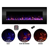 Northwest Electric Fireplace Wall Mounted Color Changing LED Fire and Ice Flames, NO Heat, Multiple...