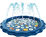 SplashEZ 3-in-1 Sprinkler for Kids, Splash Pad, and Wading Pool for Learning - Children's Sprinkler...