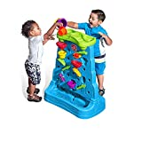 Step2 Waterfall Discovery Wall | Double-Sided Outdoor Water Play Set with 13-Pc Accessory Set