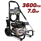 Pujua 3600PSI 2.8GPM Gas Pressure Washer Power Washer 212CC Gas Powered Pressure Washer, 2-Year...