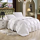 SUPER LUXURIOUS FULL / QUEEN SIZE Goose Down Alternative Comforter, 600 Thread Count 100% Egyptian...