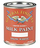 General Finishes QSW Water Based Milk Paint, 1 Quart, Snow White
