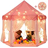 Sunnyglade 55'' x 53'' Princess Tent with 8.2 Feet Big and Large Star Lights Girls Large Playhouse...