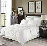 downluxe Lightweight Down Comforter(King,White)-Summer Weight Down Duvet Inserts,230 Thread Count...