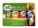 Metallic Multi-Surface Acrylic Craft Paint Set of 8, Great for Indoor/Outdoor use and Great for All...