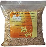 100% Natural Cedar Chips | Mulch | Great for Outdoors or Indoor Potted Plants | Dog Bedding (4...