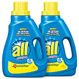 all Liquid Laundry Detergent, Stainlifter, 50 Fluid Ounces, 2 Count, 66 Total Loads