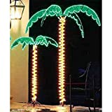 EEZ RV Products 7 Foot High Super Bright LED Lighted Tropical Palm Tree - 5 Times Brighter Than...