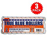 True Blue Professional Paint Roller Covers, Best for All Types of Paint (3, 18' x 1/2')