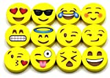 Emoji Erasers, 60-Pack Fun Cute Pencil Erasers for Kids, Great for Rewards, Party Favors, Birthdays,...