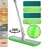 Microfiber Mop Floor Cleaning System - Washable Pads Perfect Cleaner for Hardwood, Laminate & Tile -...
