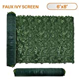 TANG Sunshades Depot 6' FT x 8' FT Artificial Faux Ivy Privacy Fence Screen Leaf Vine Decoration...