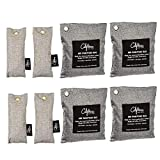 Bamboo Odor Eliminator Bags (8 Pack), Bamboo Charcoal Air Purifying Bag, Natural Air Fresheners &...