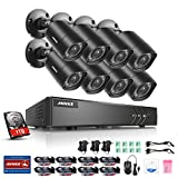 ANNKE Home Security Camera System 8 Channel 1080P Lite DVR with 1TB Surveillance Hard Drive and (8)...