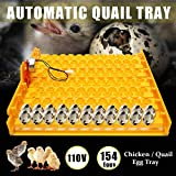 110V Automatic Incubator 154 Quail Eggs Tray Turner Chicken Hatch Poultry Bird For Farm Animals...