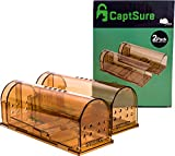 CaptSure Original Humane Mouse Traps, Easy to Set, Kids/Pets Safe, Reusable for Indoor/Outdoor use,...