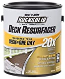 Rust-Oleum 319178 RockSolid 20X Deck Resurfacer, 1 Gallon, Bark