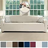 Sofa Shield Original Fitted 1 Piece Oversize Sofa Slipcover, Soft Stretch Material, Seat Width Up to...