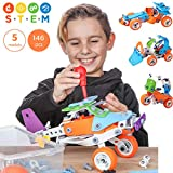 Toy Pal | STEM Toys for Boys | 146 Piece Educational Engineering Building Toys Set for Boys & Girls...