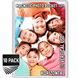 Magnetic Picture Frames with Strong Flexible Design - 10 Pack Fridge Photo Magnets with Sturdy...