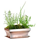 H Potter Rectangular Planter with Antique Copper Finish Indoor Outdoor Garden Pot and Plant Window...