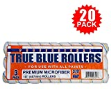 True Blue Professional Paint Roller Covers, Best for All Types of Paint (20, 4' x 3/8')