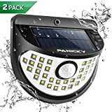 PANICKY Solar Motion Sensor/Stay On Light Outdoor 2 Pack, Durable IP67 Waterproof 32 LED Night Light...
