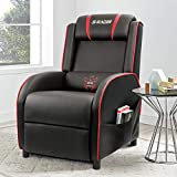 Homall Gaming Recliner Chair Single Living Room Sofa Recliner PU Leather Recliner Seat Home Theater...
