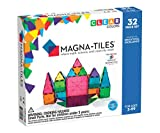 Magna-Tiles 32-Piece Clear Colors Set, The Original, Award-Winning Magnetic Building Tiles for Kids,...