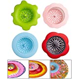 Acrylic Paint Pouring Filter,Silicone Flower Type Filter Painting Paints Art Supplies Bathroom Sink...