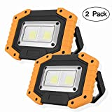 OTYTY 2 COB 30W 1500LM LED Work Light, Rechargeable Portable Waterproof LED Flood Lights for Outdoor...