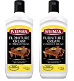 Weiman Wood Cleaner and Polish 8 Ounce (2 Pack) Use on Furniture, Wood Table Cleaner, Cabinet...