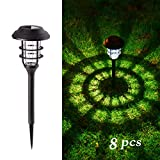 GIGALUMI 8 Pcs Solar Lights Outdoor Pathway, Waterproof Led Solar Lights for...