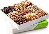 Holiday Mixed Nuts Gift Basket, Gourmet Mix of Assorted Fresh Nuts Food Tray for Christmas Prime...