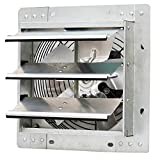 Iliving 10 Inch Variable Speed Shutter Exhaust Fan, Wall-Mounted, 10