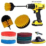 GIB cleaningtool Power Scrubber Drill Brush Kit Replacement Scrub Pads Scouring Pads for Bathroom,...