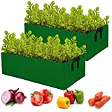 ANPHSIN 2 Pcs Large Fabric Raised Planting Bed Garden Grow Bags- Aeration Fabric Potato Tomato...