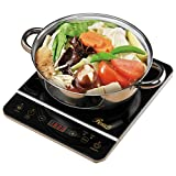 Rosewill 1800 Watt Induction Cooker Cooktop , Included 10' 3.5 Qt 18-8 Stainless Steel Pot, Gold,...