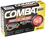 Combat Max 12 Month Roach Killing Bait, Small Roach Bait Station, 18 Count (2 Pack(18 Count))